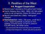 ii realities of the west