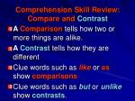 comprehension skill review compare and contrast