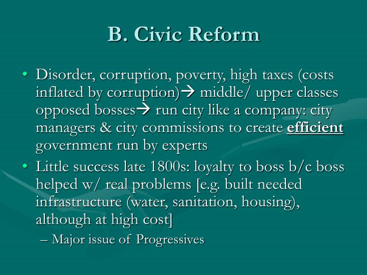 B. Civic Reform