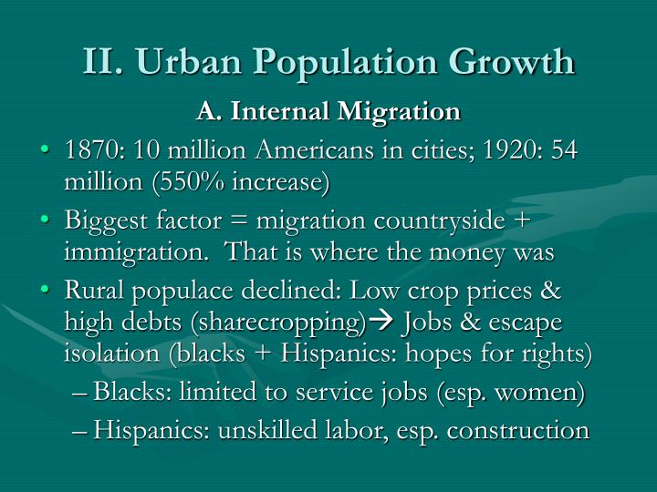 II. Urban Population Growth