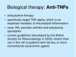 biological therapy anti tnfs