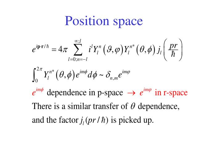 Position space