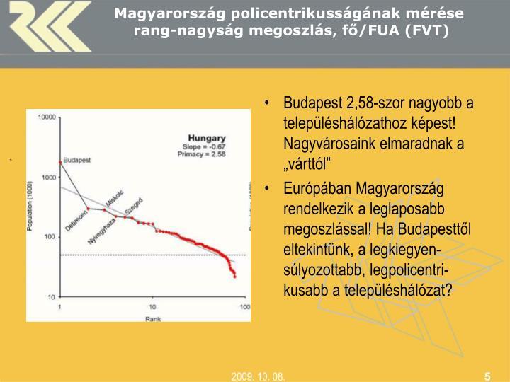 """Budapest 2,58-szor nagyobb a településhálózathoz képest! Nagyvárosaink elmaradnak a """"várttól"""""""