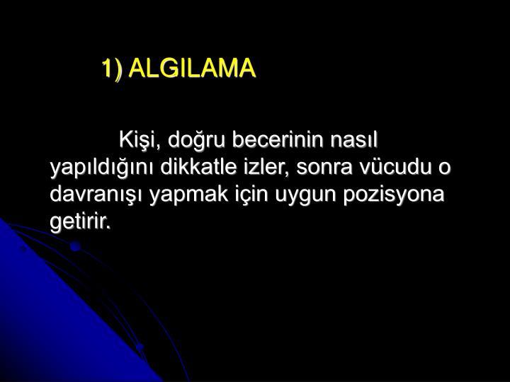 1) ALGILAMA
