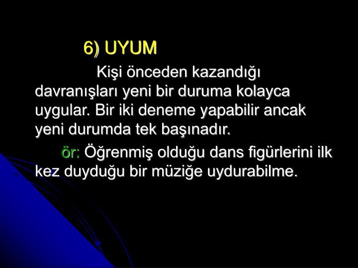 6) UYUM