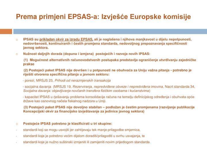 Prema primjeni EPSAS-a: Izvješće Europske komisije