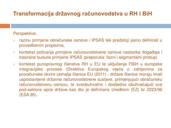 Transformacija državnog računovodstva u RH i BiH
