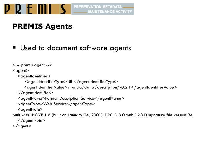 PREMIS Agents