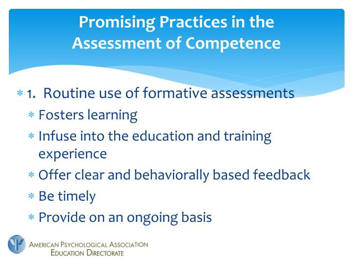 Promising Practices in the