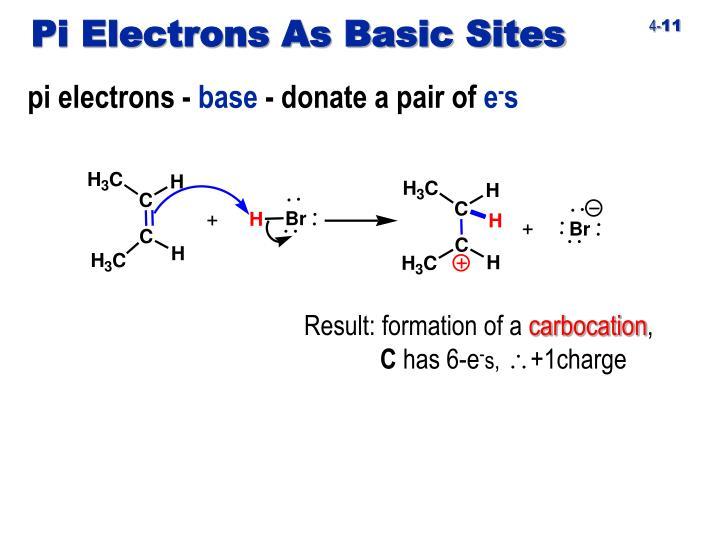 Pi Electrons As Basic Sites