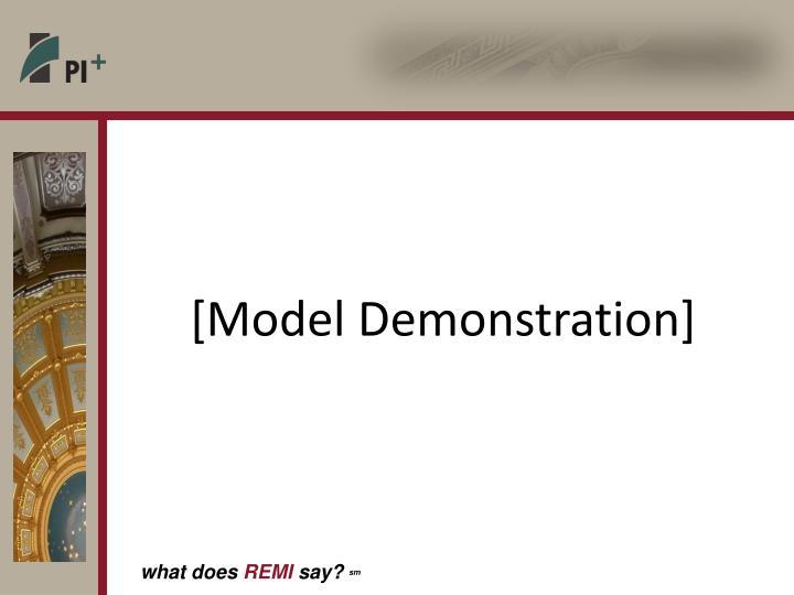[Model Demonstration]