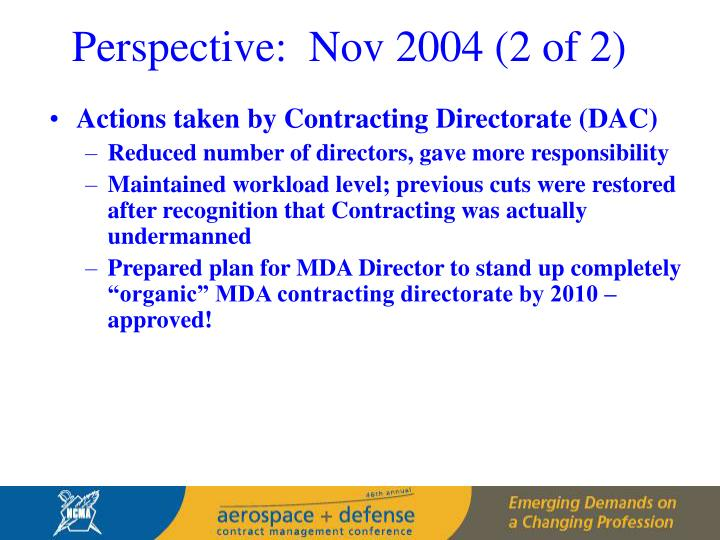 Perspective:  Nov 2004 (2 of 2)