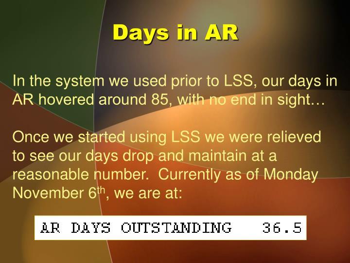 Days in AR