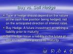 buy vs sell hedge