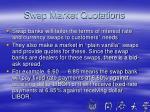 swap market quotations
