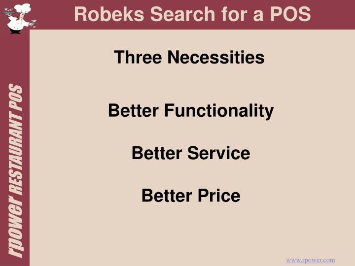 Three Necessities