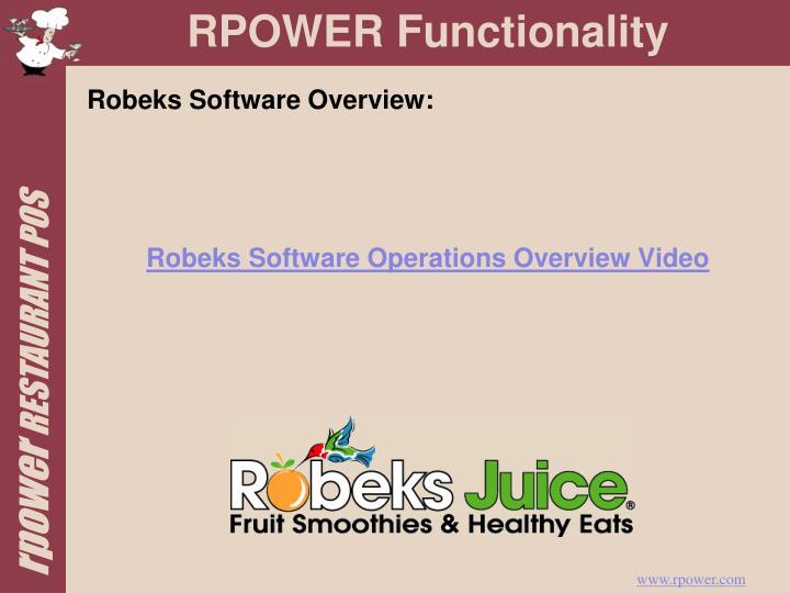 Robeks Software Overview: