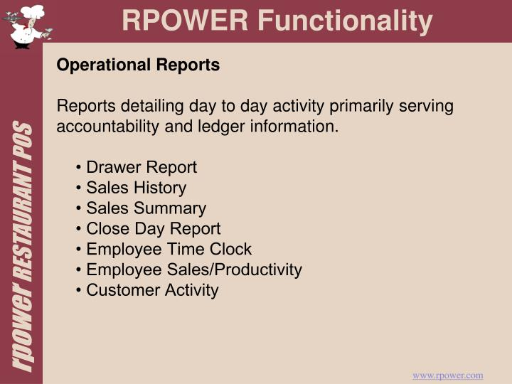 Operational Reports