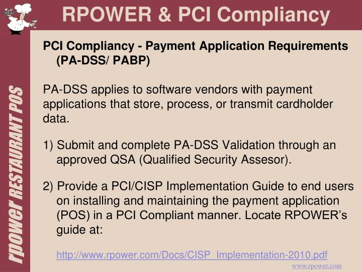 PCI Compliancy - Payment Application Requirements (PA-DSS/ PABP)