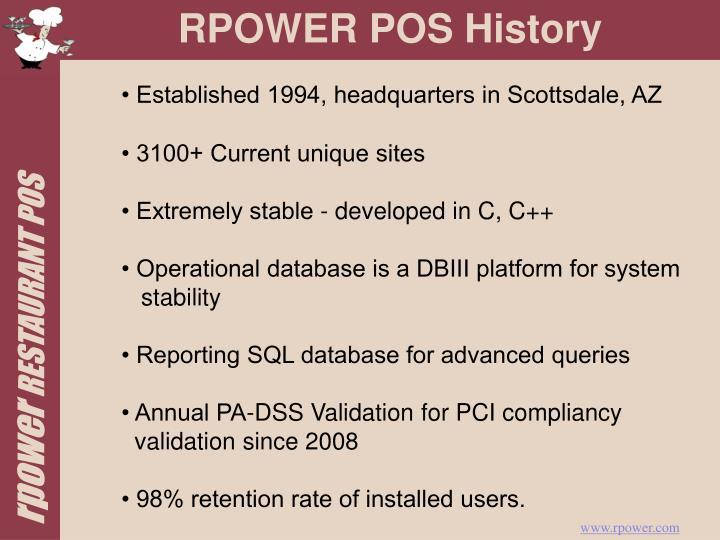 Rpower pos history