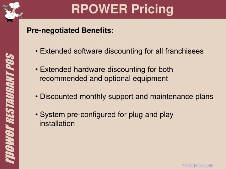 RPOWER Pricing