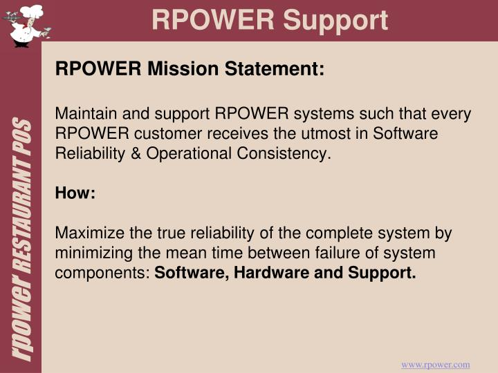 RPOWER Mission Statement: