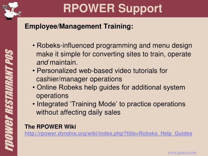 Employee/Management Training: