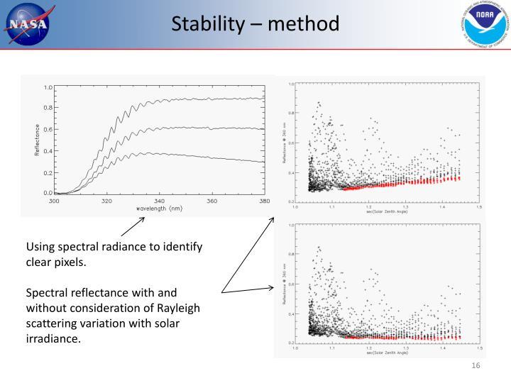 Stability – method