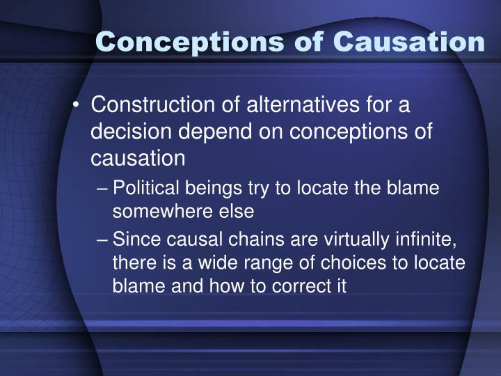 Conceptions of Causation