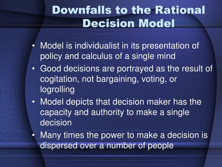 Downfalls to the Rational Decision Model