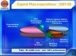 capital plan expenditure 2007 08