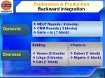 exploration production backward integration1