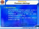 marketing premium offerings