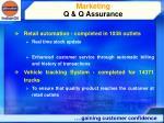 marketing q q assurance