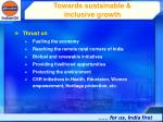 towards sustainable inclusive growth