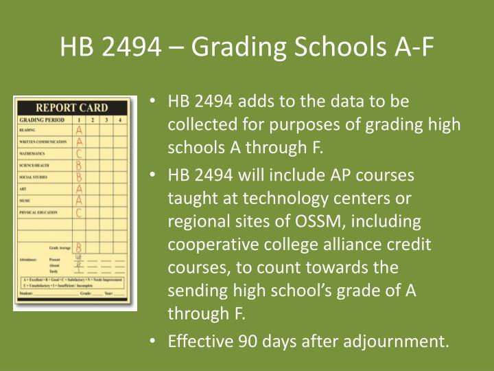 HB 2494 – Grading Schools A-F