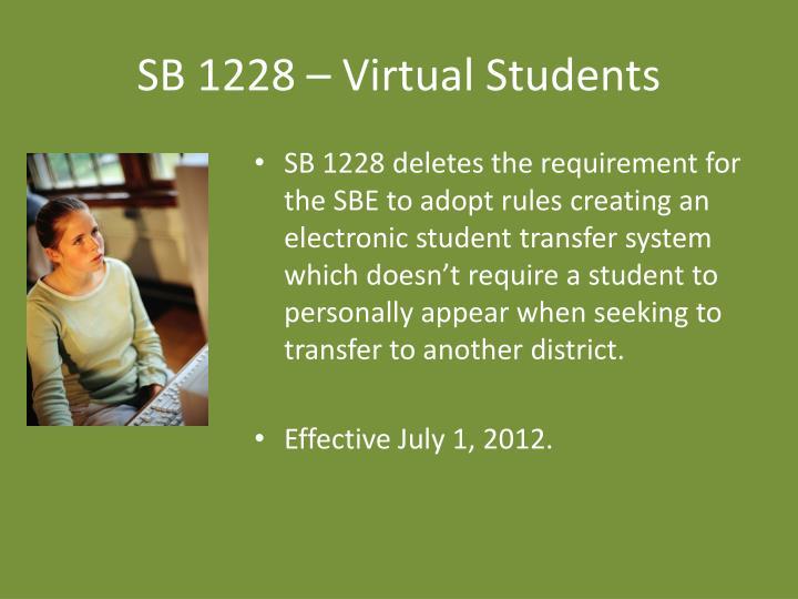 SB 1228 – Virtual Students