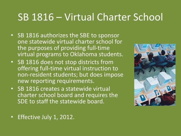 SB 1816 – Virtual Charter School