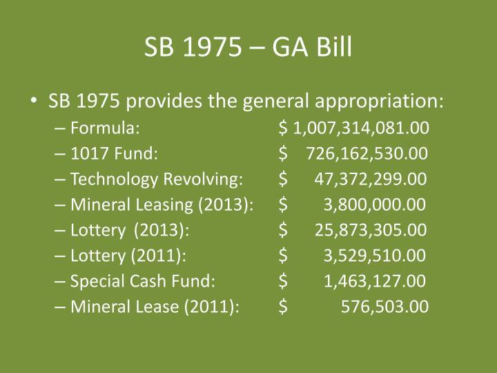 SB 1975 – GA Bill