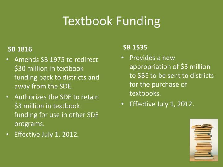 Textbook Funding