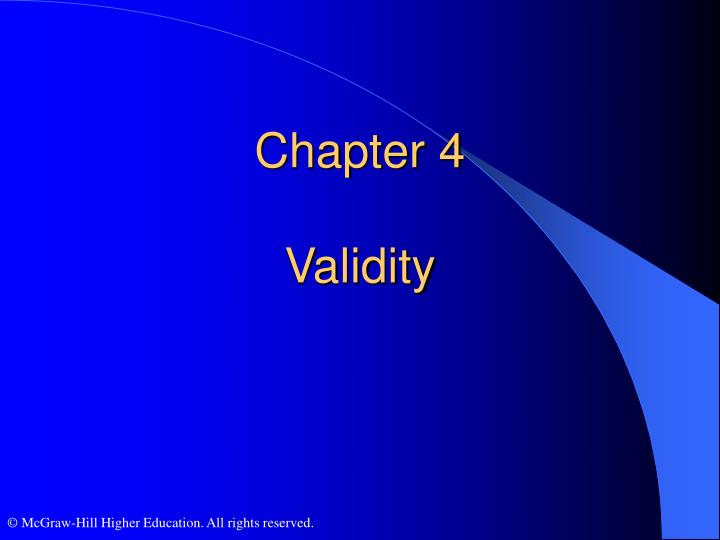Chapter 4 validity