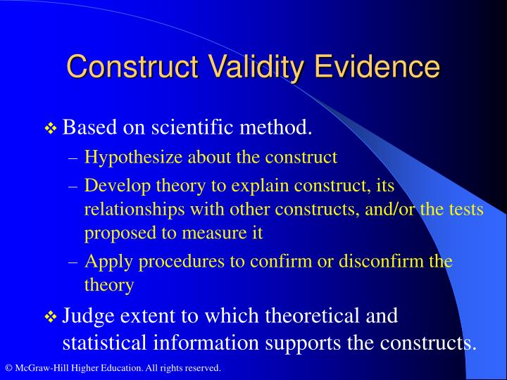 Construct Validity Evidence
