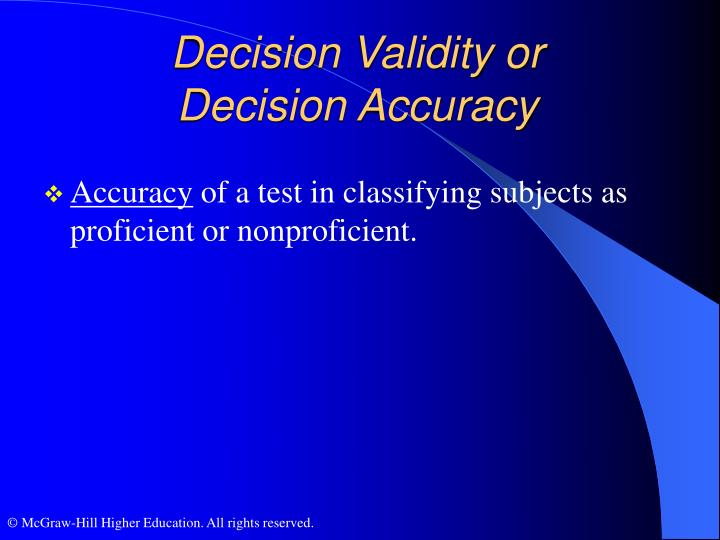 Decision Validity or