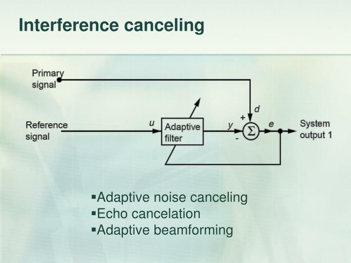 Interference canceling