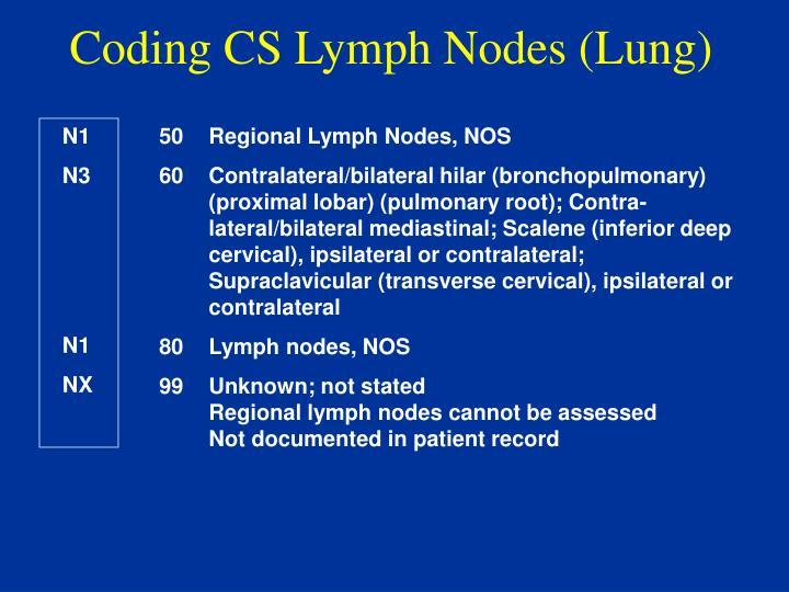 Coding CS Lymph Nodes (Lung)