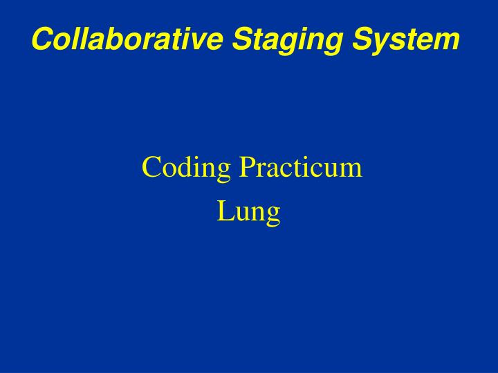 Collaborative Staging System