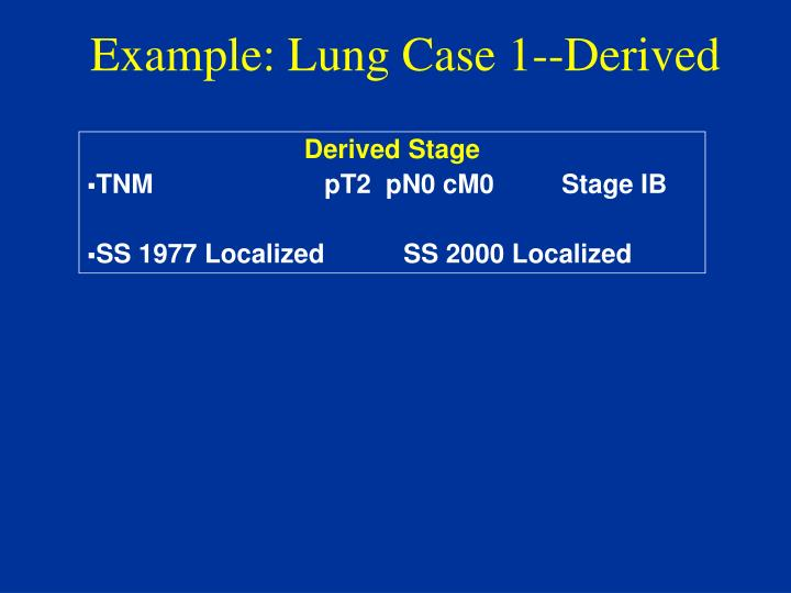 Example: Lung Case 1--Derived