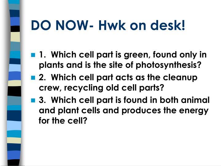 Do now hwk on desk