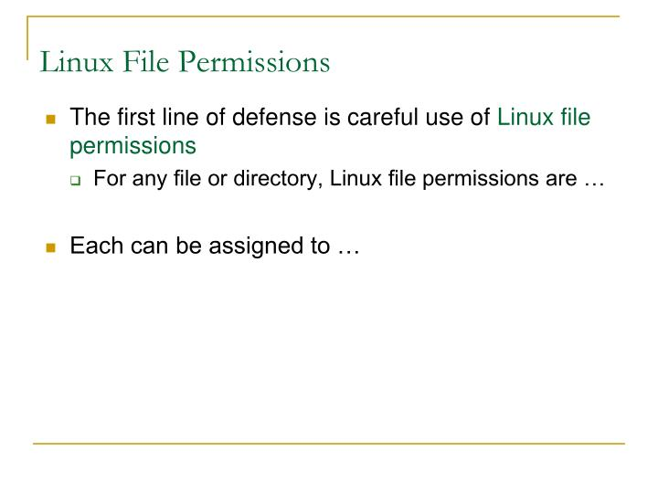 Linux File Permissions
