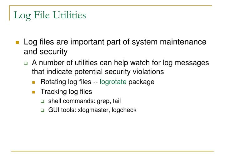 Log File Utilities